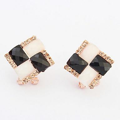 Damen Ohrstecker Tropfen-Ohrringe Kreolen Synthetischer Opal Synthetischer Diamant Personalisiert Einzigartiges Design Logo Stil
