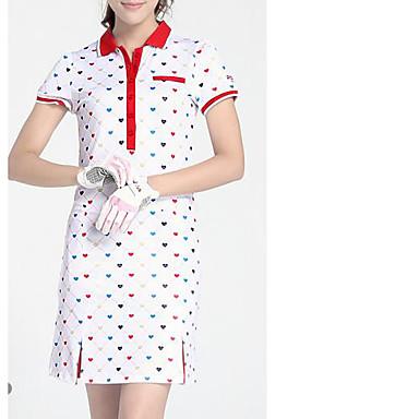 Mulheres Manga Curta Golfe Vestidos Golfe
