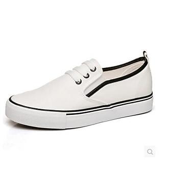 Damen Schuhe Leinwand Frühling Komfort Loafers & Slip-Ons Für Normal Schwarz/weiss Rot/Weiß Weiß und Grün