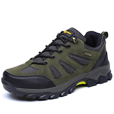 Men's Suede Spring / Summer Comfort Athletic Shoes Hiking Shoes Gray / Army Green / Khaki