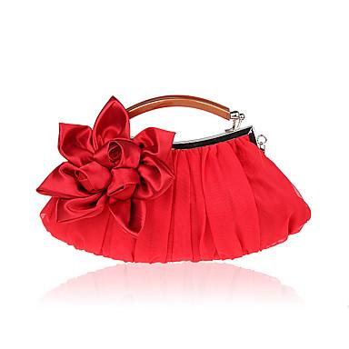 Damen Taschen Polyester Abendtasche Blume für Hochzeit Veranstaltung / Fest Formal Ganzjährig Schwarz Silber Rote Aprikose Amethyst