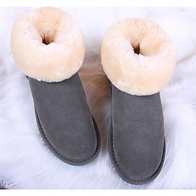 Naiset Kengät Mokkanahka Kevät Comfort Bootsit Käyttötarkoitus Kausaliteetti Harmaa Fuksia Kameli