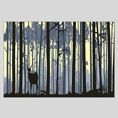 Ručně malované Zvířata Vertikální panoramatické, Klasické Moderní Plátno Hang-malované olejomalba Home dekorace Jeden panel