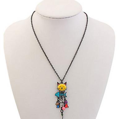 Pánské Dámské Obojkové náhrdelníky Řetízky Šperky Kočka Slitina Přizpůsobeno Květinový Jedinečný design Zvířecí Klasické Vintage Základní