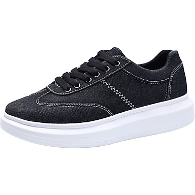 Homens sapatos Tecido Primavera / Outono Conforto Tênis Preto / Cinzento / Azul