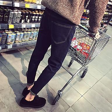 Miehet Kengät Aitoa nahkaa Syksy Comfort Oxford-kengät Käyttötarkoitus Kausaliteetti Musta