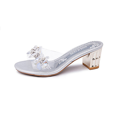 Damen Sandalen Sommer PU Blockabsatz Gold Silber 10 - 12 cm