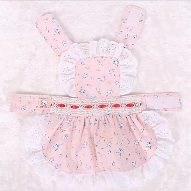 Kombinéza Oblečení pro psy Princeznovské Modrá Růžová Bavlna Kostým Pro domácí mazlíčky Léto Dámské Roztomilý Narozeniny