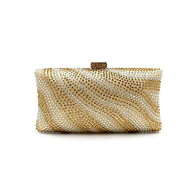 Damen Taschen Ganzjährig Polyester Nylon Abendtasche Crystal / Strass für Hochzeit Veranstaltung / Fest Normal Formal Gold Schwarz Silber