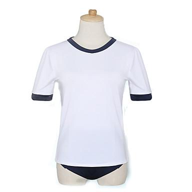 Inspiriert von Cosplay Cosplay Anime Cosplay Kostüme Cosplay Kostüme Cosplay Tops / Bottoms Volltonfarbe Sport Kurzarm Top Hosen Für Damen