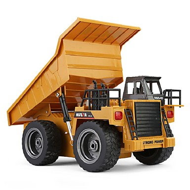 RC Car HUINA 1540 6 Channel 2.4G Truck / Construction Truck / Dump Truck 1:18 Remote Control / RC / Rechargeable / Electric