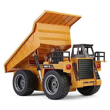 Carro com CR HUINA 1540 Canal 6 2.4G Caminhão / Veiculo de Construção / Caminhão basculante 1:18 Controlo Remoto / Recarregável / Elétrico