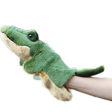 Fantoches de dedo Bonecas Pelúcias Brinquedos Crocodilo Animal Animais Simulação Tactel Crianças Peças
