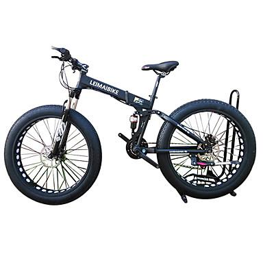 Schneefahrrad Falträder Radsport 21 Geschwindigkeit 26 Zoll/700CC 40mm SHIMANO 51-7 Doppelte Scheibenbremsen Federgabel Hintere Federung