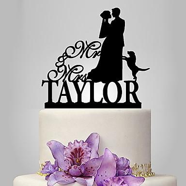 Decorações de Bolo Tema Clássico / Romance / Casamento Casal Clássico Plástico Casamento com 1 pcs Bolsa Poly