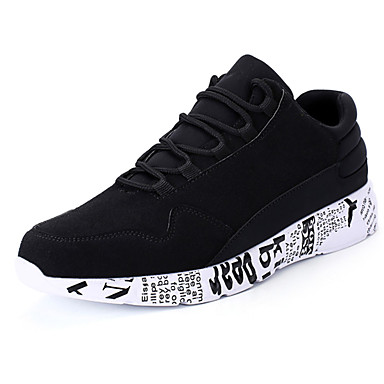 Men's Rubber Spring &  Fall Comfort Sneakers Black / Black / Gold / Red