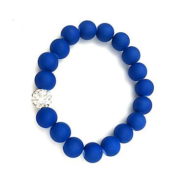 abordables Bracelet-Bracelet à Perles Femme Résine dames Rétro Vintage Naturel Mode Bracelet Bijoux Vert Rose Bleu clair Forme de Cercle pour Cadeau
