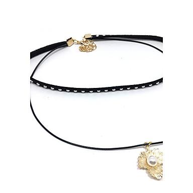 Damen Kreisförmig Einzigartiges Design Anhänger Stil Grundlegend Halsketten Layered Ketten Strass Spitze Aleación Halsketten Layered