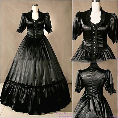 Rokoko / Viktorianisch Kostüm Damen Kleid / Party Kostüme Vintage Cosplay Satin / Other Kurzarm Kappe Boden-Länge