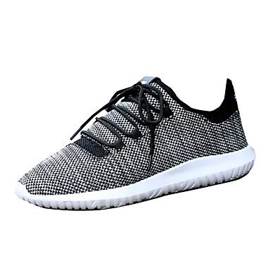 Pánské Obuv PU Jaro Podzim Pohodlné Atletické boty Šněrování pro Venkovní Bílá Černá Béžová