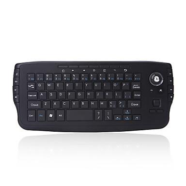 2.4g mini teclado sem fio teclado multi-media funcional trackball mouse