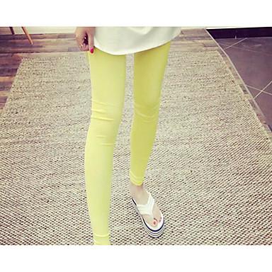 Dámské Neuvedeno Střední Jednobarevné Legging, Jednobarevné Vodní modrá Bílá Černá Žlutá