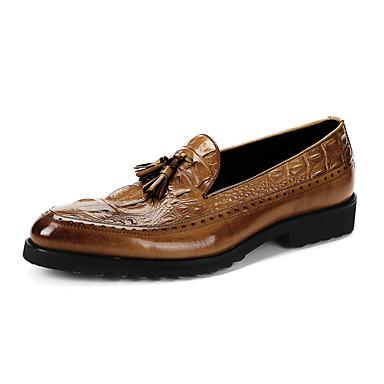 Homens sapatos Couro Primavera Outono Mocassim Mocassins e Slip-Ons Estampa Animal Mocassim para Casual Escritório e Carreira Festas &