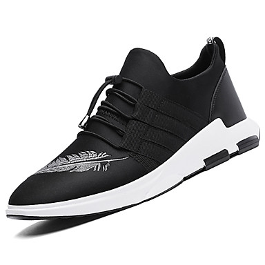 Miesten kengät Kangas Kevät Syksy Comfort Urheilukengät Kävely Solmittavat varten Kausaliteetti Musta Ruudun väri