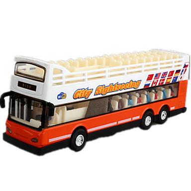 Carrinhos de Fricção Veículo Militar Brinquedos Cauda Ônibus Ônibus de dois andares Metal Peças Unisexo Dom
