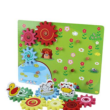 Bausteine Bildungsspielsachen Spielzeuge Quadratisch Holz Kinder Stücke