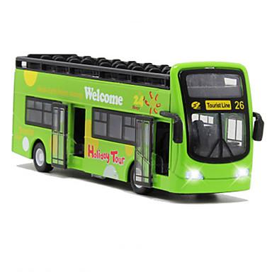 Carros de Brinquedo Ônibus Ônibus Clássico Simulação Música e luz Clássico Unisexo Para Meninos Para Meninas Brinquedos Dom