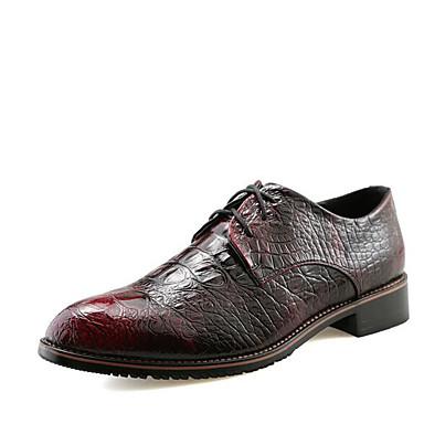 Miehet kengät Synteettinen mikrokuitu PU Kevät Comfort Lenkkitossut Käyttötarkoitus Kausaliteetti Musta Hopea Punainen