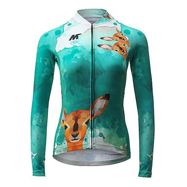 Mysenlan Camisa para Ciclismo Mulheres Manga Longa Moto Camisa/Roupas Para Esporte Blusas Roupa de Ciclismo Secagem Rápida Respirável