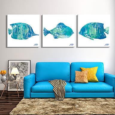 Aufgespannte Leinwandrucke Tier Modern Klassisch,Drei Paneele Leinwand Quadratisch Druck-Kunst Wand Dekoration For Haus Dekoration