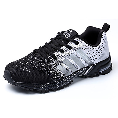 Miesten kengät Kumi 봄/Syksy Comfort Urheilukengät Solmittavat varten ulko- Musta/valkoinen Musta/punainen