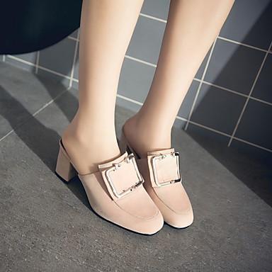 Bottier carré Mules Bout Chaussures Bride Talon 06008516 Sabot Similicuir A Femme Eté Légères Arrière amp; Bleu Beige Semelles Gris 76pqwwCv