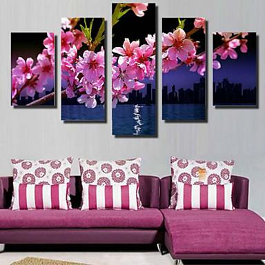 Reprodukce umění Květinový/Botanický motiv Pastýřský,Pět panelů Horizontální Grafika Wall Decor For Home dekorace
