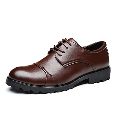 Miesten kengät PU Kevät Kesä muodollinen Kengät Lenkkitossut varten Toimisto & ura Musta Ruskea