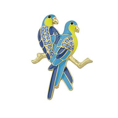 Dámské Brože - Základní Brož Modrá Pro Ležérní