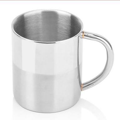 Vevnitř Běžné/Denní Sklenice, 250 Nerez Mléko Šťáva Běžné nápojové potřeby Hrnečky Lahve na vodu Kávové šálky