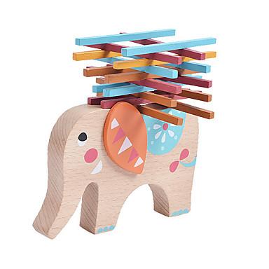 Bausteine Stapelspiele Spielzeuge Elefant Gleichgewichtspunkt Holz Kinder Stücke