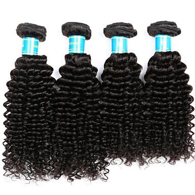 4 csomópont Perui haj Kinky Curly Emberi haj Az emberi haj sző Emberi haj sző Human Hair Extensions / Kinky Göndör