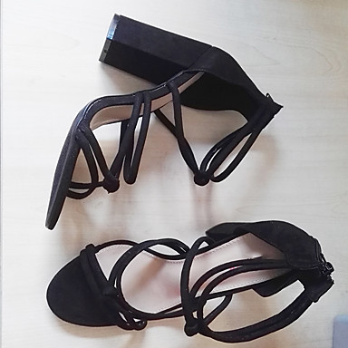 Femme Chaussures Tissu Eté Eté Eté  s Talon Bottier Bout ouvert Fermeture Noir / Rouge / club de Chaussures / Soirée & EvéneHommes t | Respectueux De L'environnement  34ff72