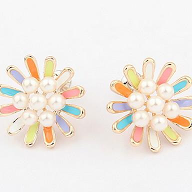 Damen Ohrstecker Tropfen-Ohrringe Kreolen Imitierte Perlen Basis Einzigartiges Design Logo Stil Perle Freundschaft Zum Selbermachen