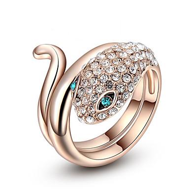 Naisten Statement Ring - Metalliseos Ruusukulta
