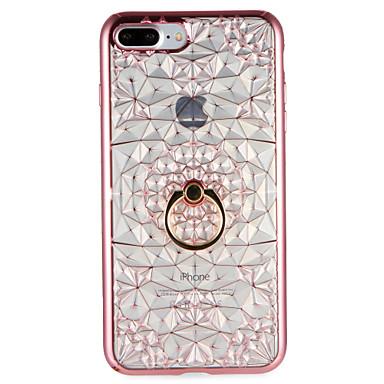 Etui Käyttötarkoitus Apple iPhone 7 Plus iPhone 7 Sormuksen pidike Takakuori Geometrinen printti Pehmeä TPU varten iPhone 7 Plus iPhone 7