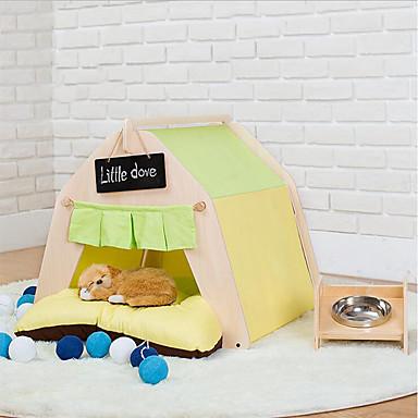 Katze Hund Bett Haustier Matten& Pads Streifen Sterne Tier Patchwork weiches Zelt