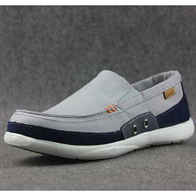 Herren Loafers & Slip-On Komfort Frühling Stoff Normal Grau Blau Flach