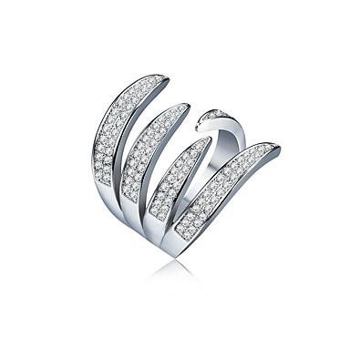 Mulheres Zircônia cúbica Zircão Cobre cuff Anel - Outros Forma Geométrica Borla Clássico Arco-Íris Casamento Africa Jóias inicial
