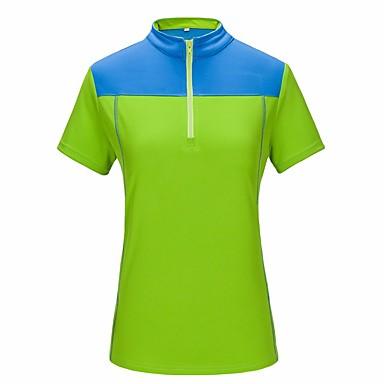 Homens Mulheres Camiseta de Trilha Ao ar livre Secagem Rápida Resistente Raios Ultravioleta Respirável Roupas de Compressão Acampar e